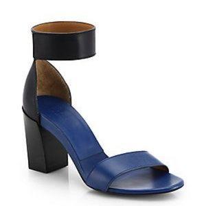 Chloe Gala Two Tone Color Block Heels Sandals